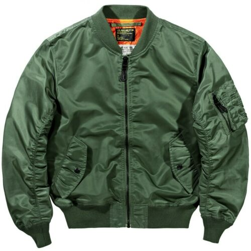 Men/'s Multi Pocket Stylish Flight Bomber Jacket Pilot Coat Tactical Military LL