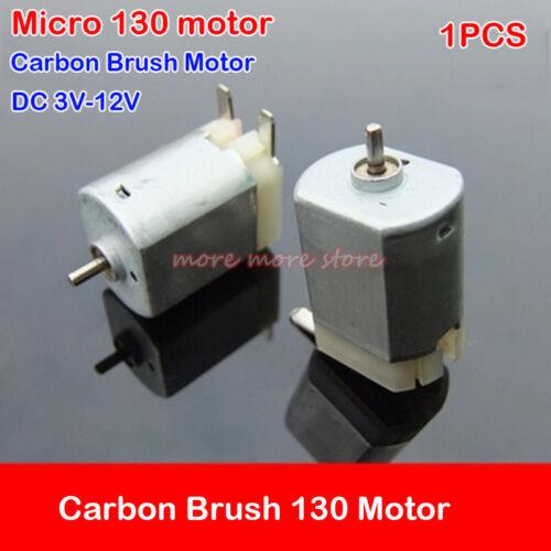 DC 3V-12V 6V 10000RPM High Speed Carbon Brush 130 Motor For DIY Toy Car Model