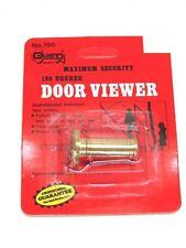 GUARD SECURITY 190 DEGREE SOLID BRASS DOOR PEEP HOLE VIEWER, No. 190  NOS! GUARD  SECURITY 190 DEGREE SOLID BRASS DOOR PEEP HOLE VIEWER, No. 190