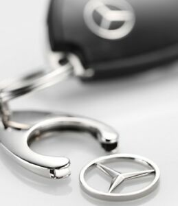 Original-Mercedes-Benz-Schluesselanhaenger-Einkaufs-Chip-Einkaufswagen-Stern