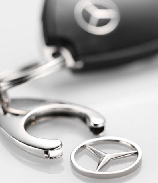 Original Mercedes-Benz Schlüsselanhänger, Einkaufs Chip, Einkaufswagen, Stern