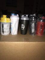 Shaker Bottle Lot 50 Pescience Black Stone Labs Muscle Tech Animal Pak Protein