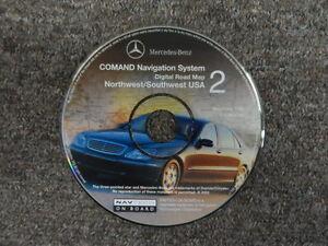 2002 Mercedes Benz COMAND NAV System Northwest Southwest Digital Road Map CD#2