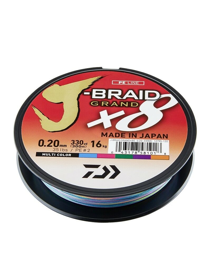 Daiwa J BRAID GRAND 270m colour dark green RRP.99