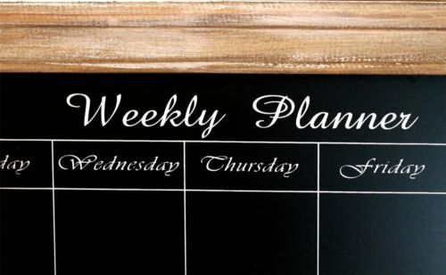 67 X 32 Delightful shabby chic style weekly planner chalkboard ~ Natural