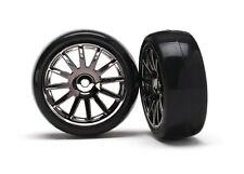 Traxxas Slick-Reifen auf Felge schwarz - TRX7573A