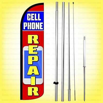 OIL CHANGE Auto Repair Car Garage Swooper Banner Feather Tall Curved Top Flag