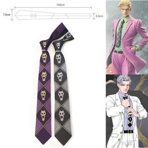 JoJo/'s Bizarre Adventure KILLER QUEEN Heavens Door Silk Tie Necktie Blue