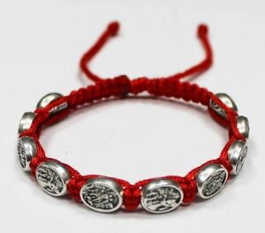 St-Michael-the-Archangel-and-the-Guardian-Angel-bracelet-on-Red-Cord-Handmade