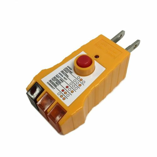 Receptacle Socket Tester GFCI 125VAC Electric Outlet Circuit Voltage Detector