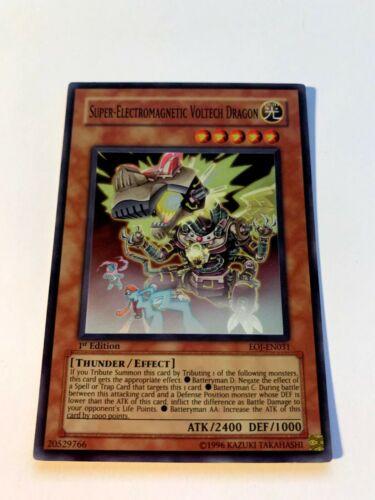 NM Yu-Gi-Oh Card Super-Electromagnetic Voltech Dragon EOJ-EN031 Super Rare 1st