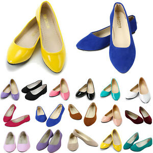 Womens Ballerina Ballet Flats Shoes Slip On Loafers Casual Pumps Boat Shoes Size