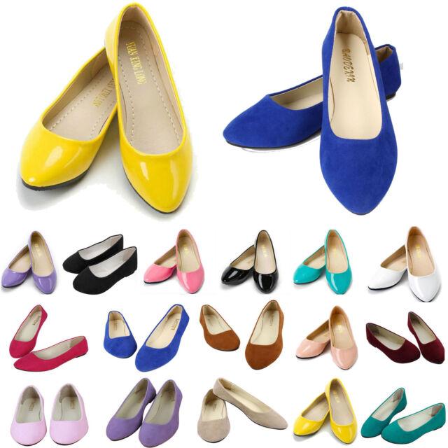 Joya Cloud II SR Black Womens Leather Ballerina Wedge Ballet Pumps Shoes