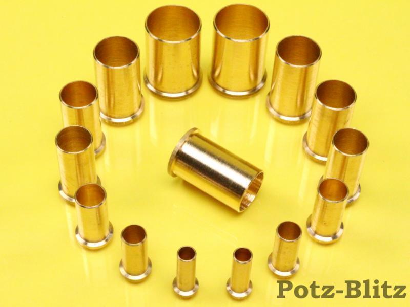 Stützhülse Verstärkungshülse Messing für 8,10,12,14,15,16,18 und 22mm Kupferrohr