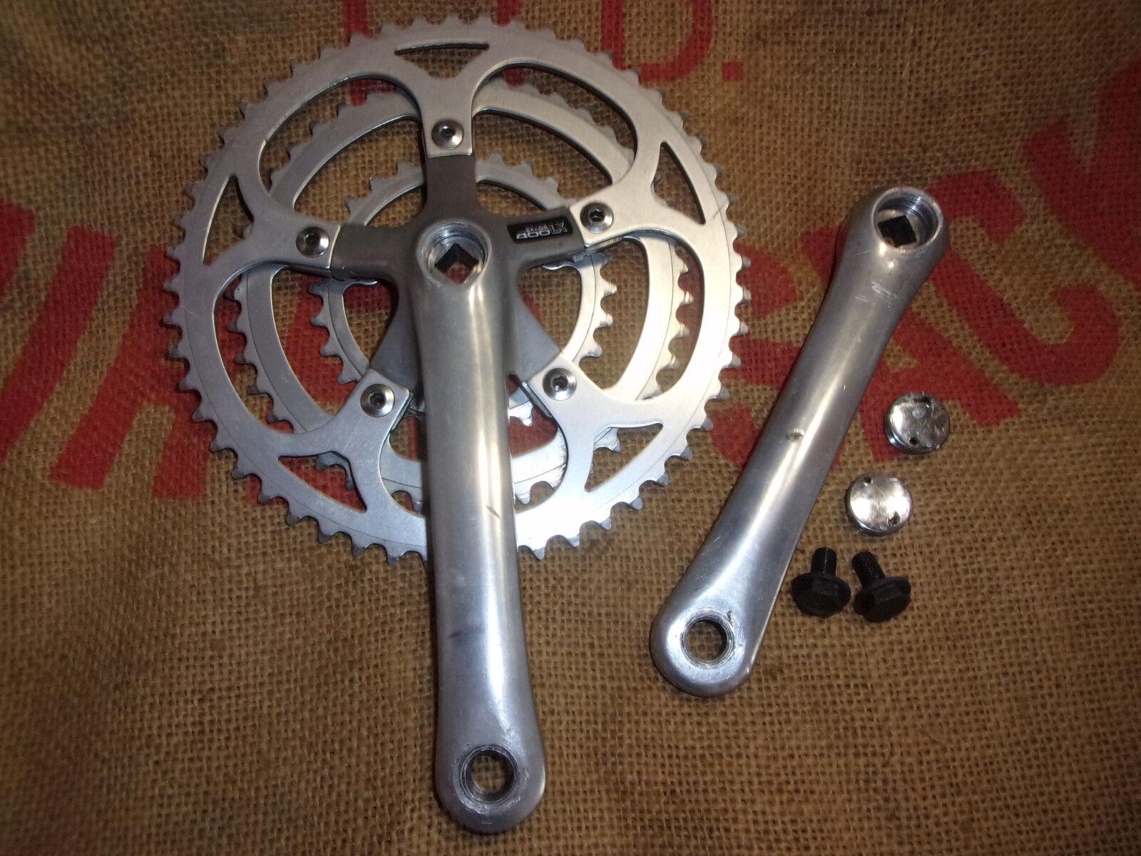 Pedalier triple SHIMANO Exage 400LX crankset vintage bicycle 524228  FCM400