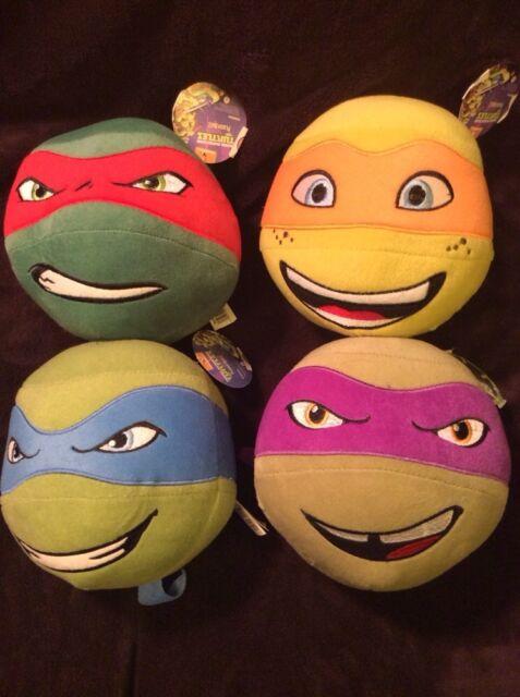 Teenage Mutant Ninja Turtle Head Plush Ball Lot Raphael Leonardo Donatello TMNT