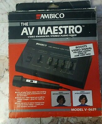 Video Production & Editing Earnest Ambico The Av Maestro Video Enhancer Stereo Audio Mixer V-0629