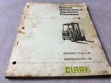 Clark Eca Epa 17 30 Planned Maintenance Adjustments Procedures Manual