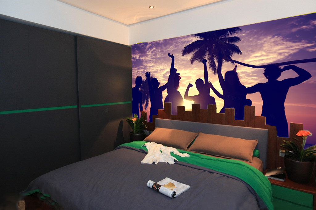 3D Carnival Shadow Wall Print Wall Decal Wall Deco Indoor Murals