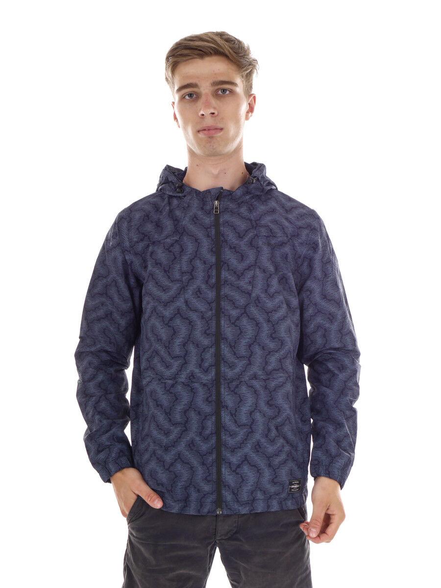O 'Neill giacca transizione giacca giacca pioggia Fierce BLU CAPPUCCIO rete