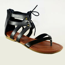a153eda79c24b7 item 3 Women Sandals Shoes Gladiator Thong Flops Lace Up Flip Flat Size  Strappy Toe 203 -Women Sandals Shoes Gladiator Thong Flops Lace Up Flip Flat  Size ...