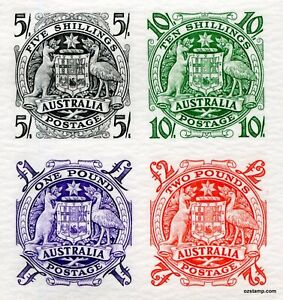 Australia-Replica-Card-17-Coat-of-Arms-Commonwealth-Kangaroo-Die-Proof