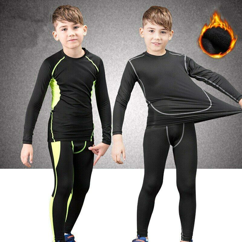 Breathable Spandex Thermal Kids Underwear Long Johns For Children Outdoor Sports