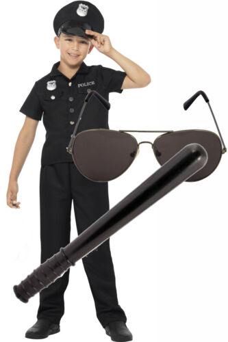 Toy and Shades Smiffys US American Police New York Cop Boys Fancy Dress Costume