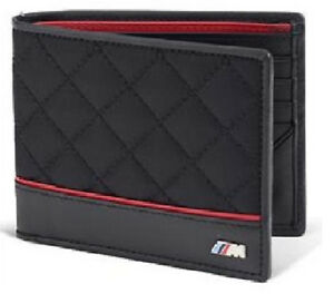 BMW-Men-039-s-M-Wallet-Bifold-Quilted-Nylon-Leather-New-OEM-80212336954