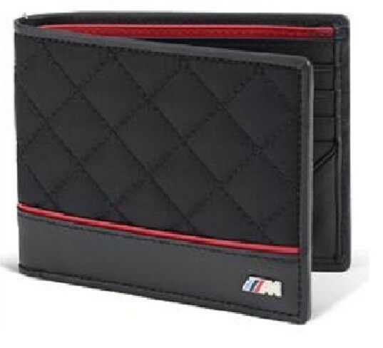BMW Men's ///M Wallet Bifold Quilted Nylon Leather New OEM 80212336954