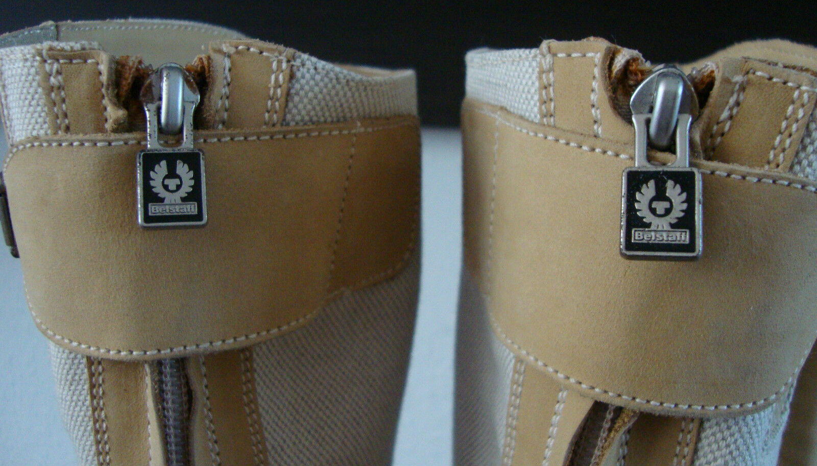 Belstaff nakedmaster 1955 light natural botas señora botas de cuero nuevo