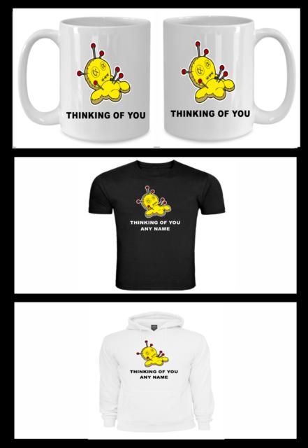 Personalised Voodoo Doll Teacher Gift Funny Humorous Mug T Shirt or Hoodie Print