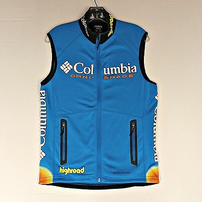 Mens Columbia Omni Shade Highroad Cycling Vest S Running UV Protective Athletic