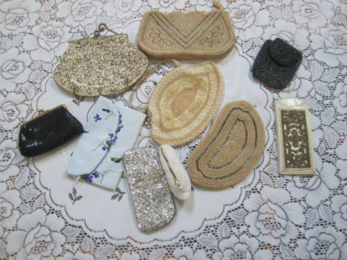 Vintage purses - beaded evening bags Glass case Co