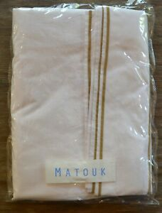 Matouk-Ansonia-Queen-Flat-Sheet-White-Bronze-Embroidery