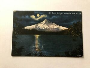 Nice-Old-Vintage-034-MOUNTAIN-VIEW-MT-HOOD-034-Postcard-Made-in-USA