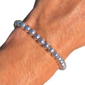 Bead Sterling Bracelet Vintage 925 Silver Italy Y