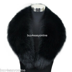100cm-39-034-inch-Men-Black-Real-Big-Fox-Fur-Collar-Scarf-Wrap-Shawl-Neck-Warm-Cape