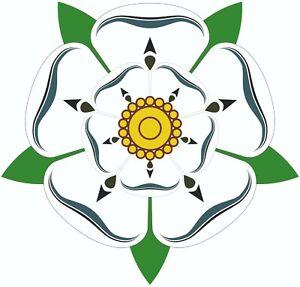 MOTORHOME-CAMPER-VAN-CARAVAN-VINYL-GRAPHICS-STICKERS-DECALS-2x-Yorkshire-Rose