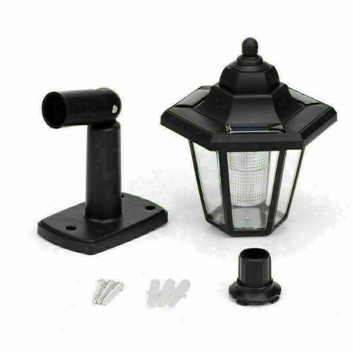 2pcs Solar LED Hexagonal Wall Light Lamp Lantern Waterproof Outdoor White Light