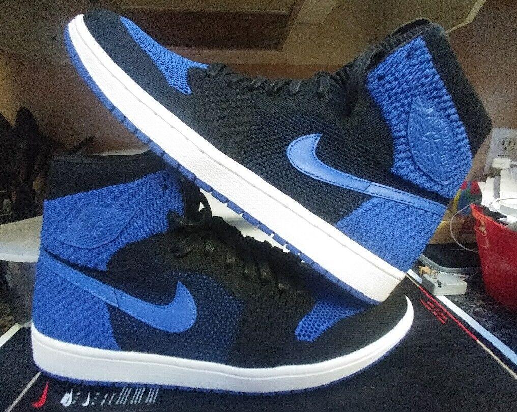 Nike Air Jordan 1 Retro Flyknit 919704 006 Royal SIZE 14 og i banned shattered v
