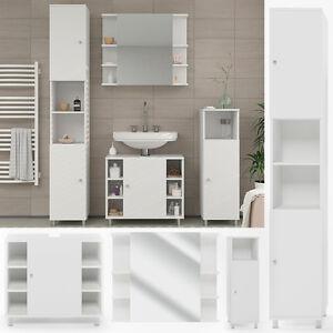 Details zu VICCO Badmöbel Set FYNN Weiß - Bad Spiegel Waschtisch  Unterschrank Badschrank