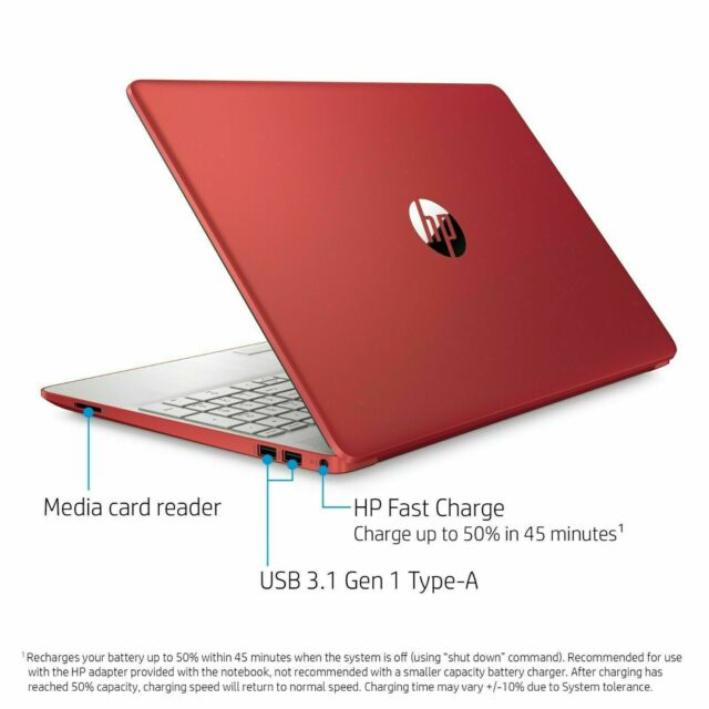 HP 15-DW0081WM 15.6 in 500 GB Intel Pentium 2.70 GHz 4GB Laptop - Red