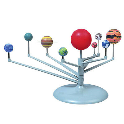 DIY Nine Planets Science Solar System Model Kids Early Educational Toys Gift AU