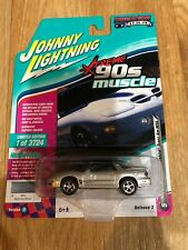 64 Muscle Cars USA 1999 Pontiac Firebird Trans Am WS6 Sebring Silver Toy JLSP028-24B Johnny Lightning 1