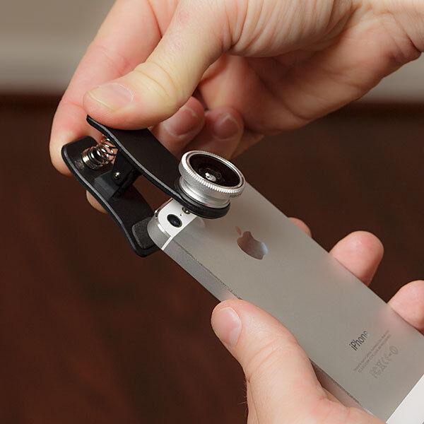 Camara Lente Universal para teléfono móvil Ojo de pez macro gran angular Negro