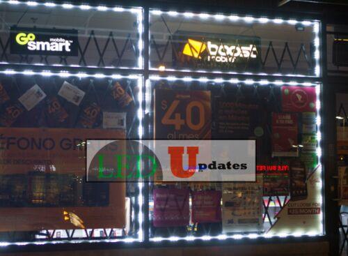 LEDUPDATES 60FT STOREFRONT window LED LIGHT white 5050 MODULE with UL 12v Power