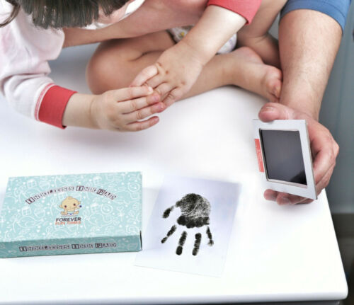 Baby Shower Gift Hand and Foot Prints Baby Inkless Handprint /& Footprint Kit