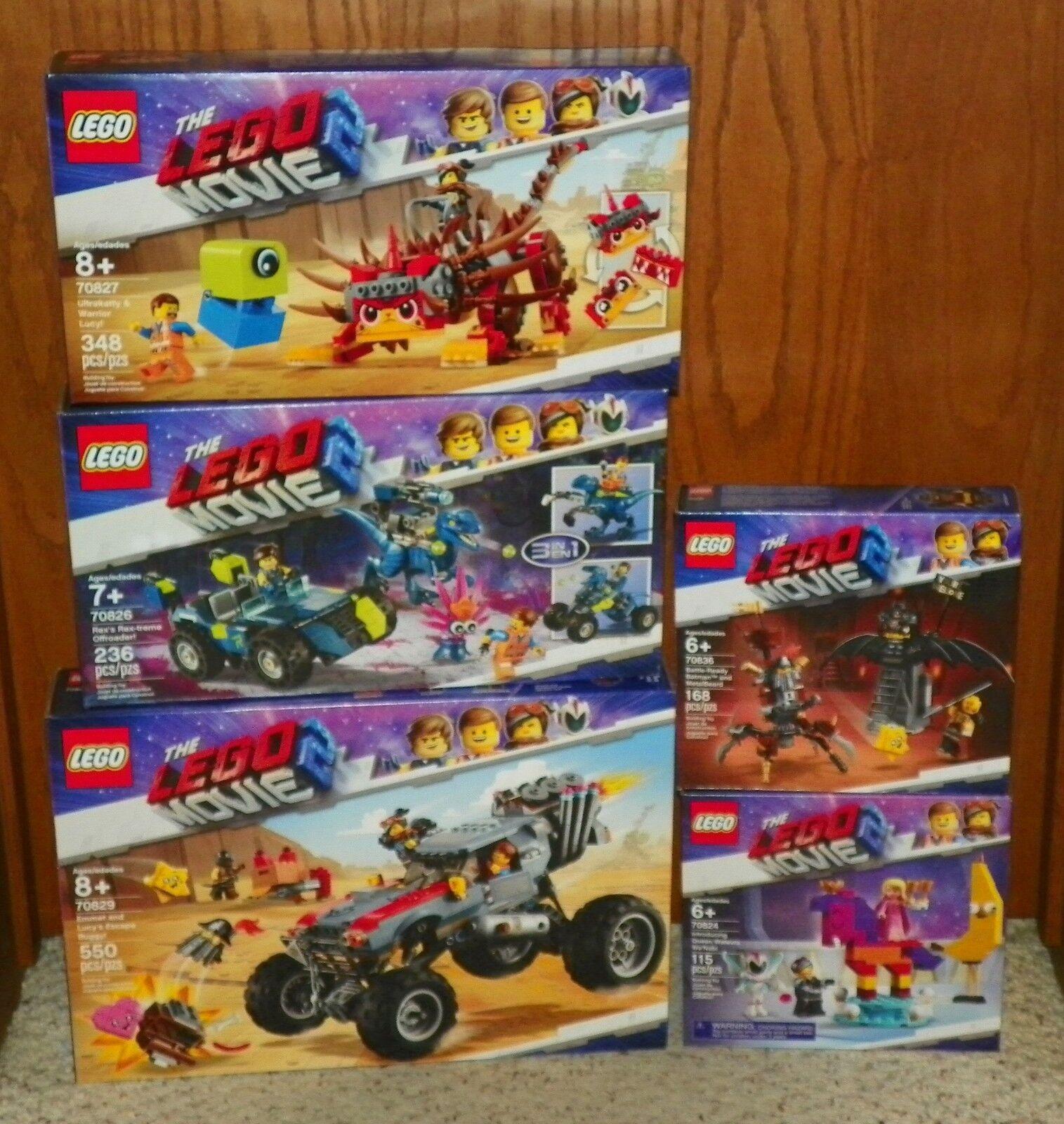 LEGO - The LEGO Movie 2 - 70829, 70827, 70826, 70836 & 70824 - 5 NEW SETS