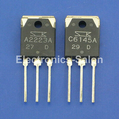 5x 2SA2223A & 5x 2SC6145A Original SANKEN Audio High Power Transistor.